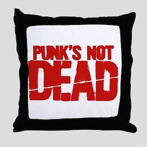 Punk's Not Dead Throw Pillow