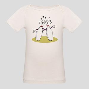 Singing Bowling Pins Organic Baby T-Shirt