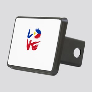 Love Philippines Flag Fili Rectangular Hitch Cover