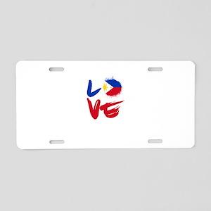 Love Philippines Flag Filip Aluminum License Plate
