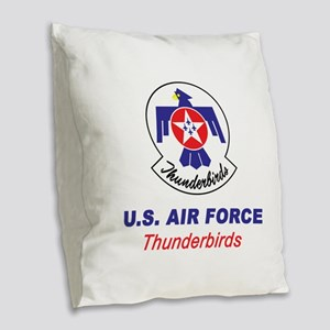 United States Air Force Thunde Burlap Throw Pillow