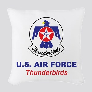 United States Air Force Thunde Woven Throw Pillow