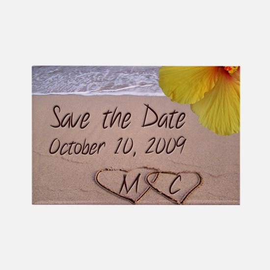 Save the Date Rectangle Magnet