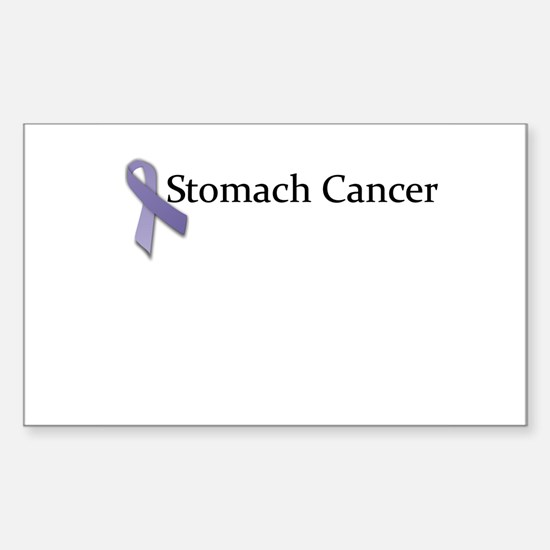 Stomach Cancer Ribbon Rectangle Decal