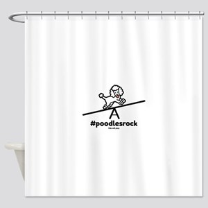 Agility Poodles Rock Shower Curtain