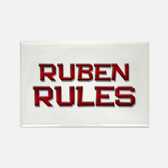 ruben rules Rectangle Magnet