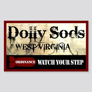 Dolly Sods - Watch Your Step Rectangle Sticker