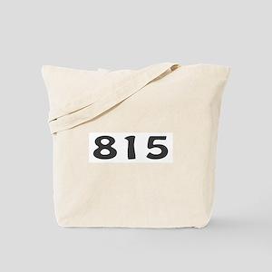 815 Area Code Tote Bag