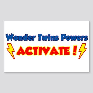 Wonder Twins Powers Activate! Rectangle Sticker