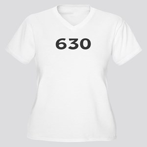 630 Area Code Women's Plus Size V-Neck T-Shirt