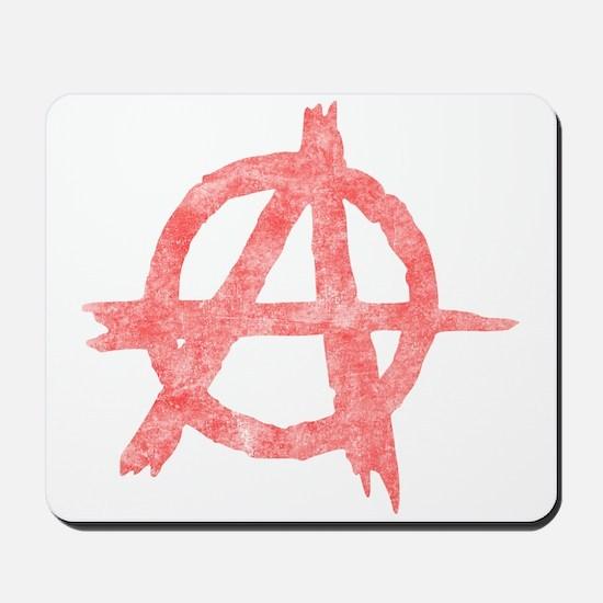 Vintage Anarachy Symbol Mousepad