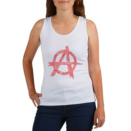 Vintage Anarachy Symbol Women's Tank Top