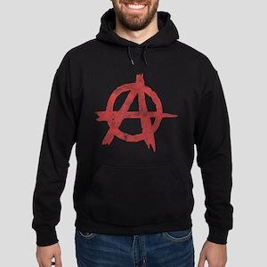 Vintage Anarachy Symbol Hoodie (dark)