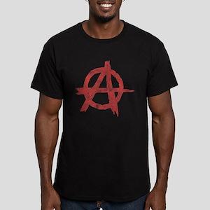 Vintage Anarachy Symbol Men's Fitted T-Shirt (dark