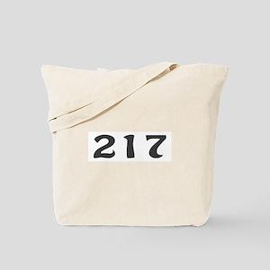 217 Area Code Tote Bag