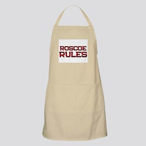 roscoe rules BBQ Apron