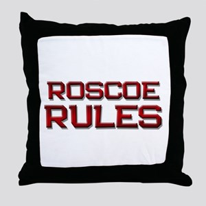 roscoe rules Throw Pillow