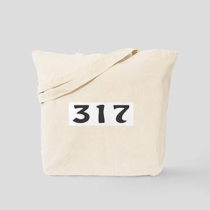 317 Area Code Tote Bag