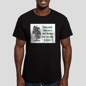KARMA Men's Fitted T-Shirt (dark)