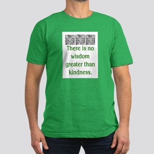 THERE IS NO KINDNESS... (GREEN) Men's Fitted T-Shi