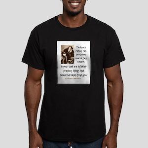 OSCAR WILDE QUOTE Men's Fitted T-Shirt (dark)