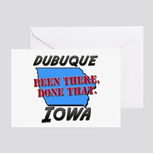 dubuque iowa - been there, done that Greeting Card