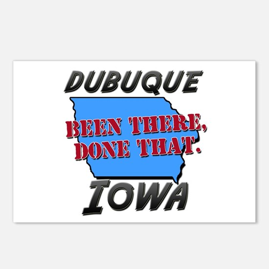 dubuque iowa - been there, done that Postcards (Pa