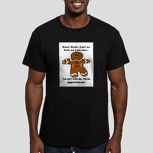 GINGERBREAD MAN! Men's Fitted T-Shirt (dark)