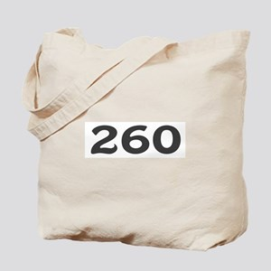 260 Area Code Tote Bag