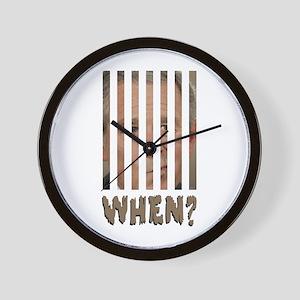 bushbehindbars Wall Clock