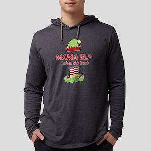 Mama Elf Christmas Funny Gift Long Sleeve T-Shirt