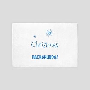 Joy of Christmas and Dachshunds 4' x 6' Rug