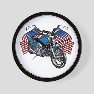 American Biker Wall Clock