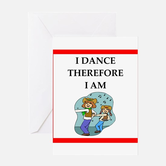 line dancing Greeting Cards