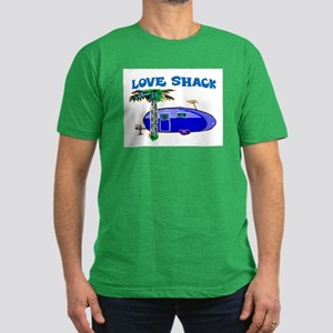 LOVE SHACK Men's Fitted T-Shirt (dark)