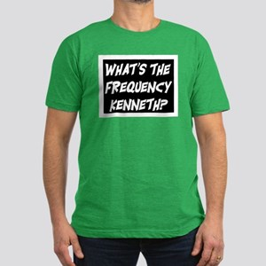 WHAT'S THE FREQUENCY? Men's Fitted T-Shirt (dark)