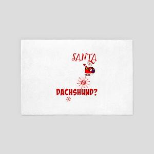 Dear Santa Just One More Dachshund for 4' x 6' Rug