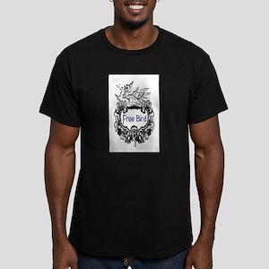 FREE BIRD Men's Fitted T-Shirt (dark)