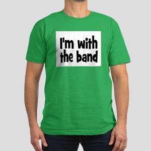 I'M WITH THE BAND Men's Fitted T-Shirt (dark)