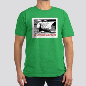 MY ANCESTORS WERE VIKINGS Men's Fitted T-Shirt (da