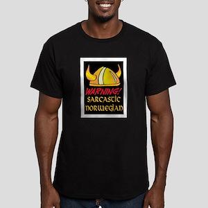 SARCASTIC NORWEGIAN! Men's Fitted T-Shirt (dark)