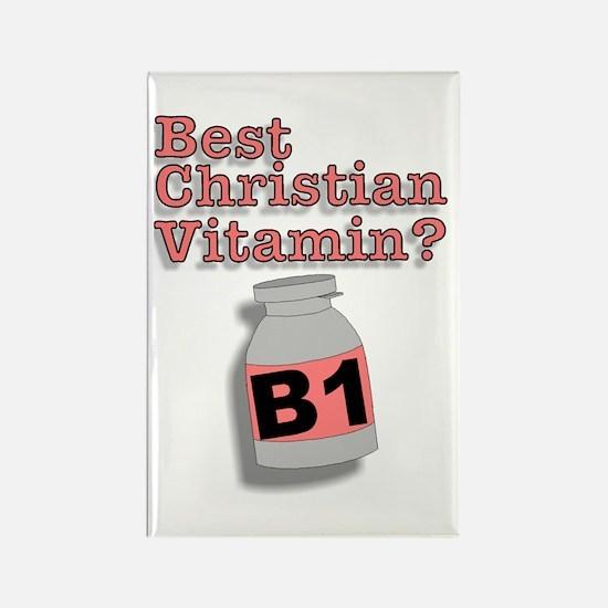 """3-D Christian Vitamins"" Rectangle Magnet!"