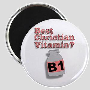 """3-D Christian Vitamins"" Magnet!"