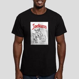 JACKASS Men's Fitted T-Shirt (dark)