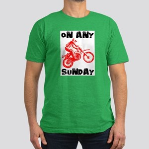ON ANY SUNDAY Men's Fitted T-Shirt (dark)