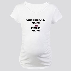 What Happens In QATAR Stays There Maternity T-Shir