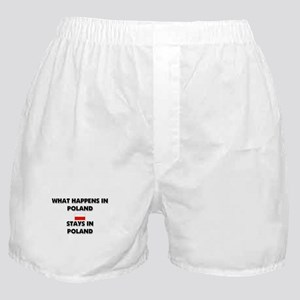 What Happens In POLAND Stays There Boxer Shorts
