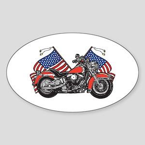 American Biker 1 Oval Sticker