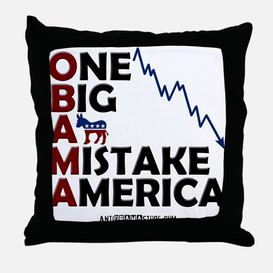 O.B.A.M.A. Throw Pillow