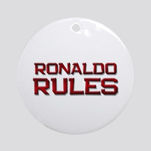 ronaldo rules Ornament (Round)